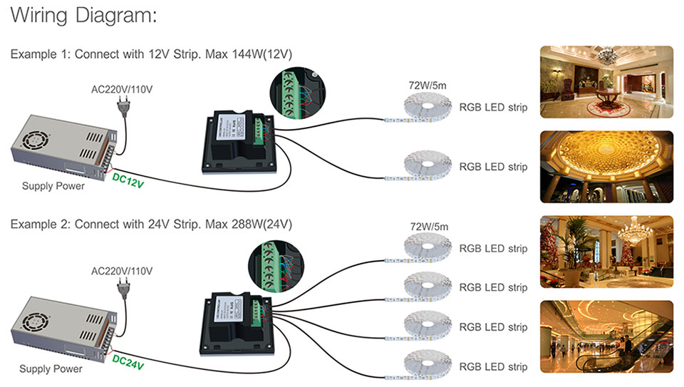 d series touch panel controller d2 single zone series|led touch wiring diagram