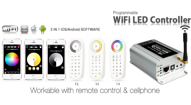 LTECH-LED WiFi Controller, LED Dimmer, Color temperature controller