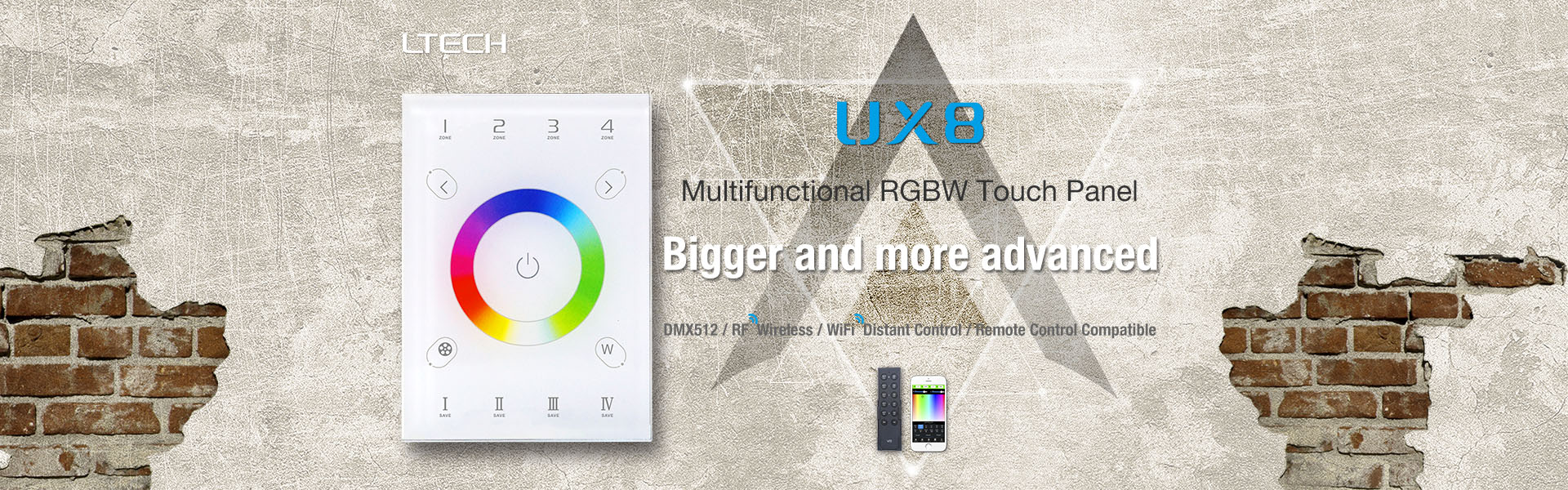 RGBW Touch Panel Controller UX8