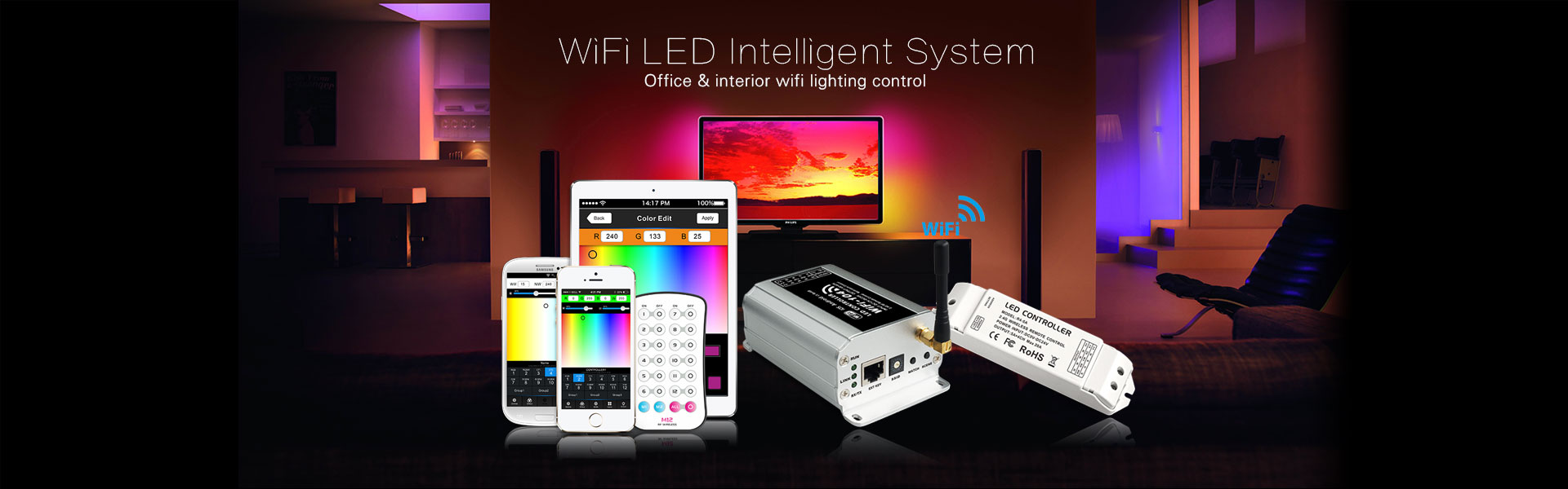LED WiFi Control system