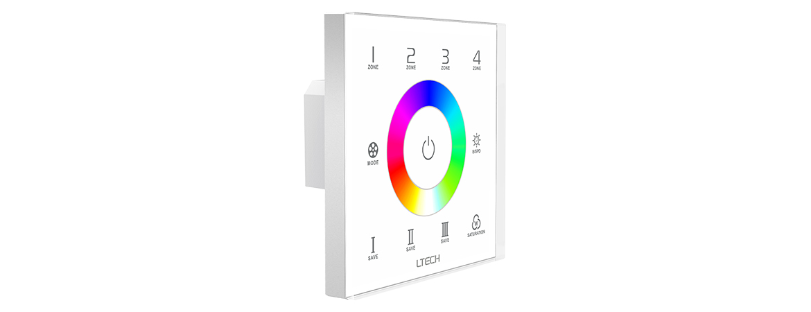 ex7s rgb touch panel  4 zones  rf dmx512 touch panel uff5cl