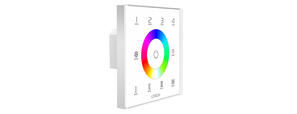 ex8s rgbw touch panel  4 zones  rf dmx512 touch panel uff5cl